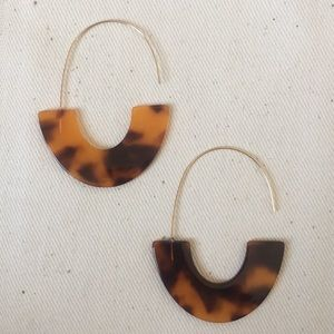 Jewelry - 🆕 Acrylic Resin Drop Threader Earrings TORTOISE